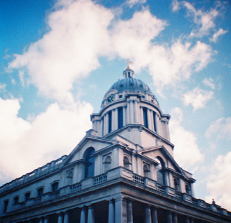 Naval College, photographed with a toy camera