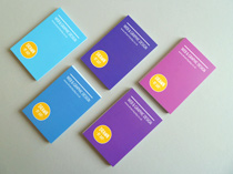 Coloured business cards